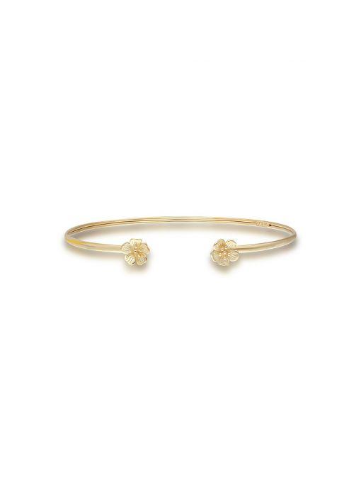 Bransoleta złota z motywem kwiatowym
