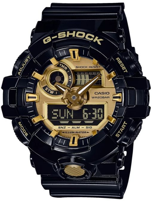 ZEGAREK G-SHOCK NO COMPLY BLACK AND GOLD