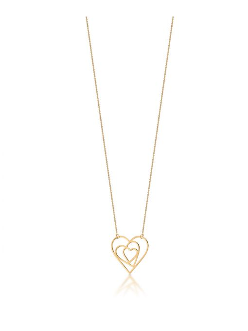 Naszyjnik złoty z sercami