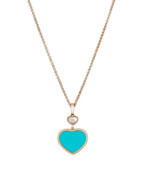 Naszyjnik różowe złoto HAPPY HEARTS Chopard