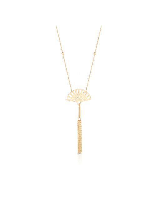Naszyjnik złoty wachlarz