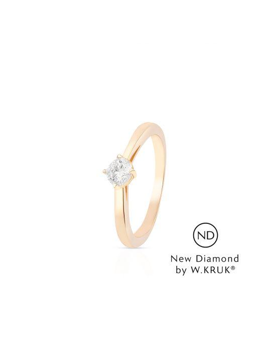 Pierścionek zaręczynowy złoty Doskonały