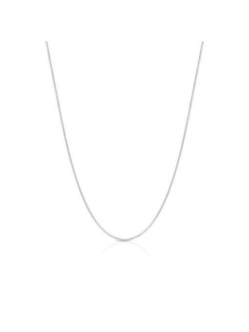Łańcuszek srebrny kostka