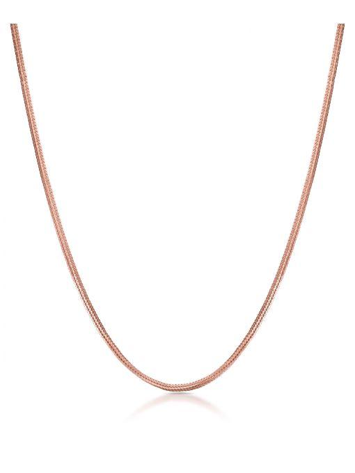 Łańcuszek różowe złoto żmijka