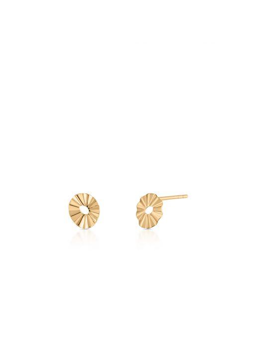 Kolczyki złote geometryczne
