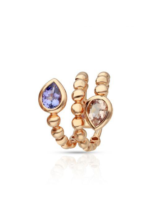 Pierścionek różowe złoto Casato