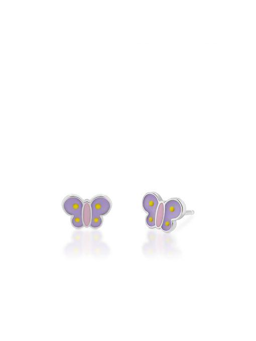 Kolczyki srebrne motyle