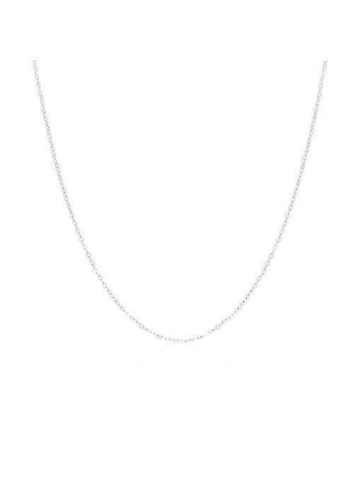 Klasyczny łańcuszek z białego złota