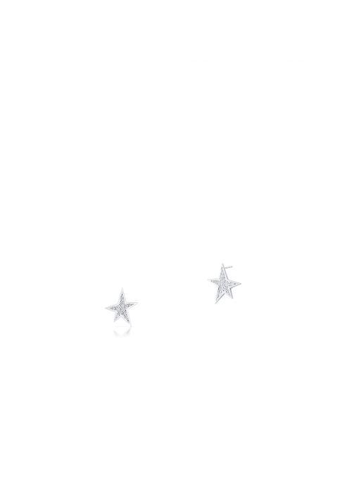 Kolczyki srebrne gwiazdy