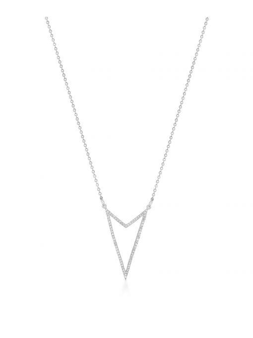 Naszyjnik białe złoto z diamentami