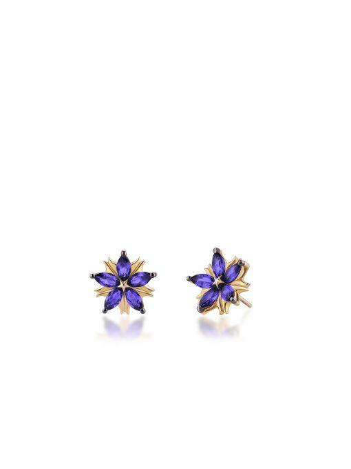 Kolczyki srebrne Kwiaty Nocy