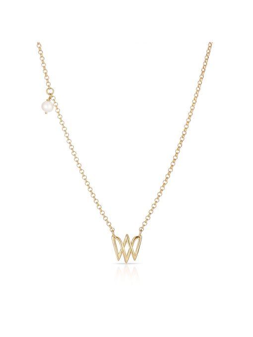 Naszyjnik srebrny z perłą W.KRUK