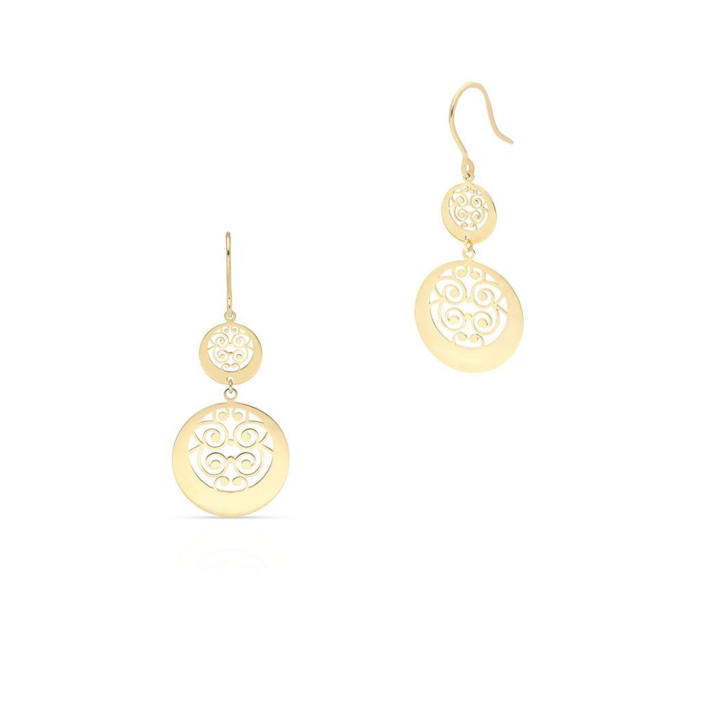 Kolczyki złote z motywem arabeski