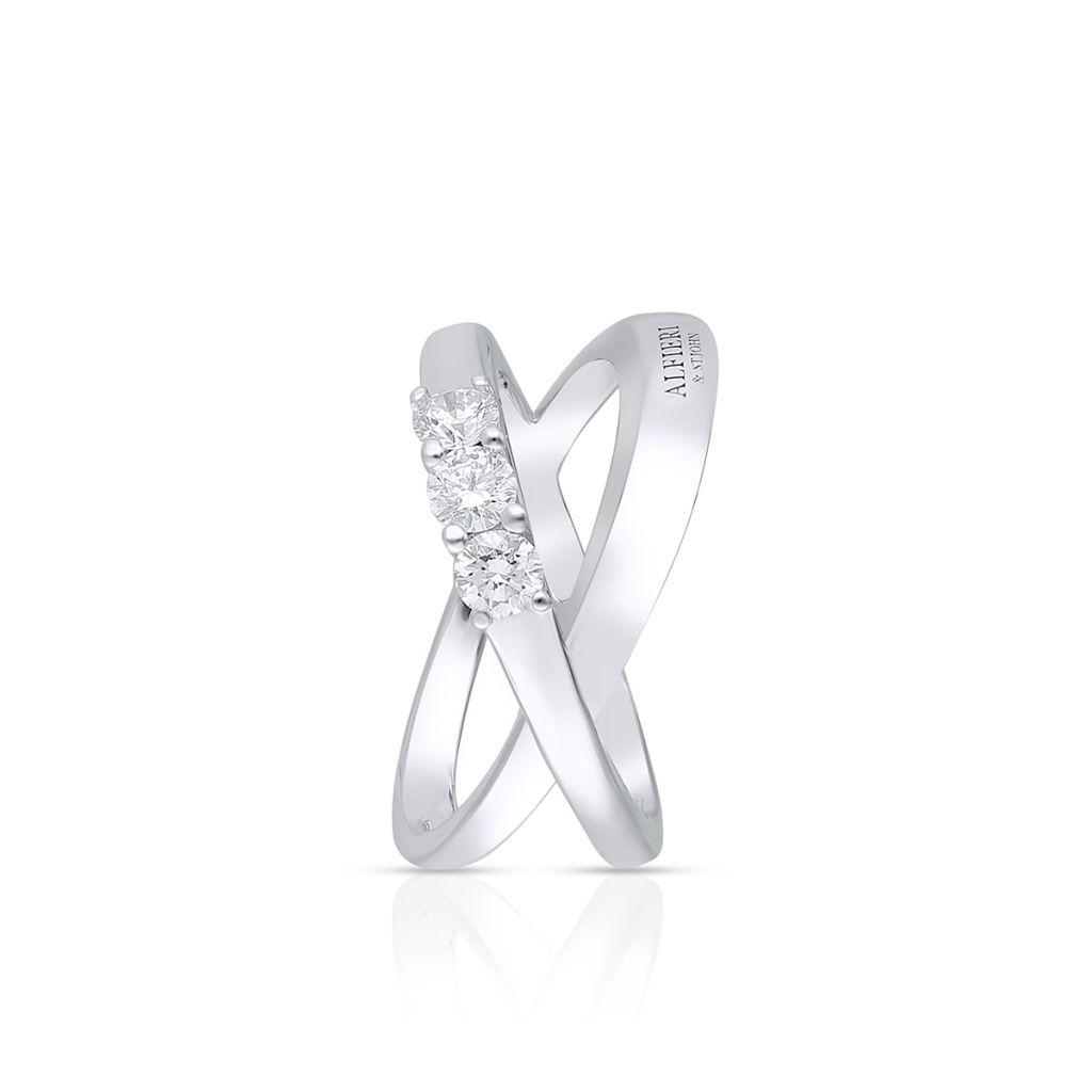 Pierścionek białe złoto ALFIERI & ST. JOHN