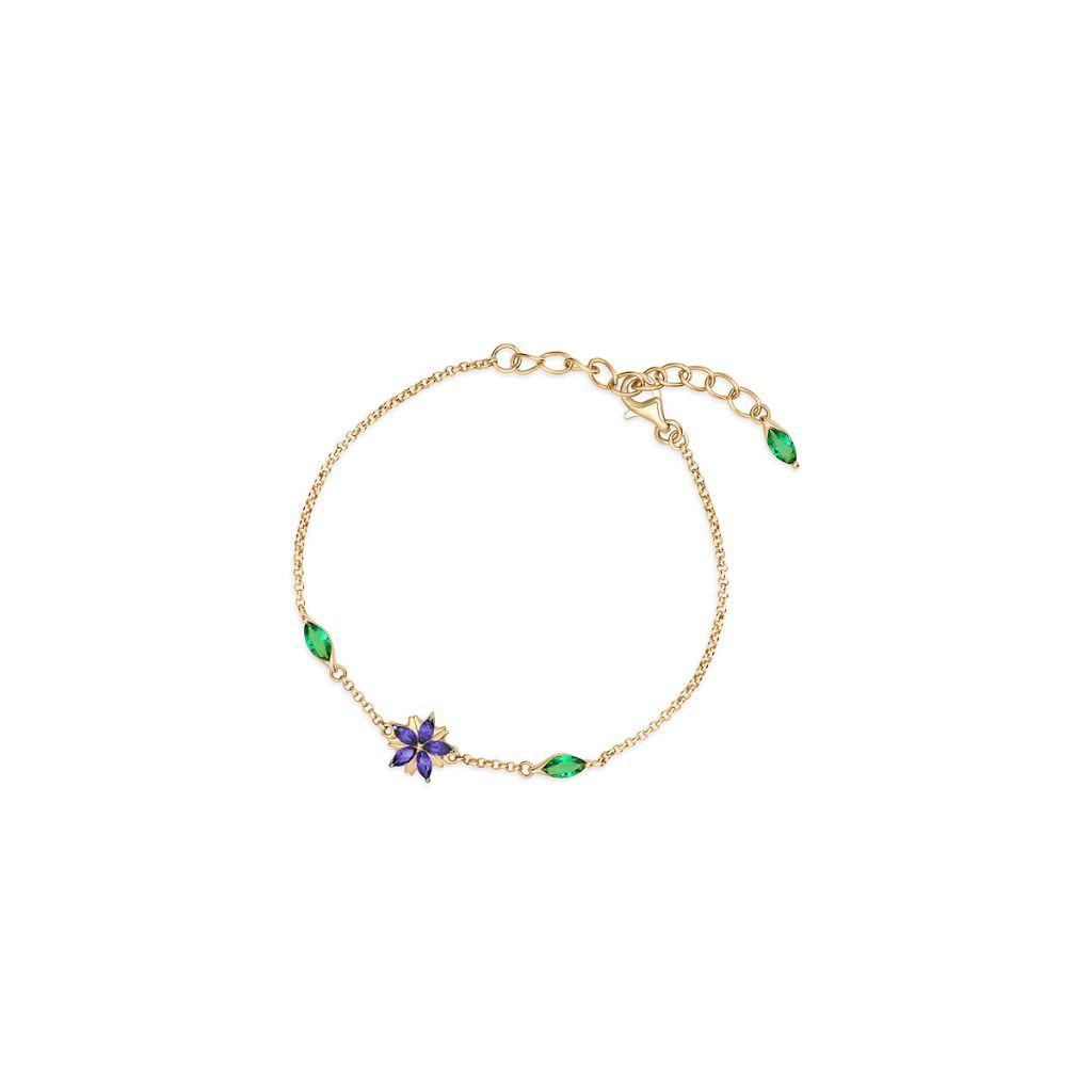 Bransoleta srebrna Kwiaty Nocy - SDL/AC055Z