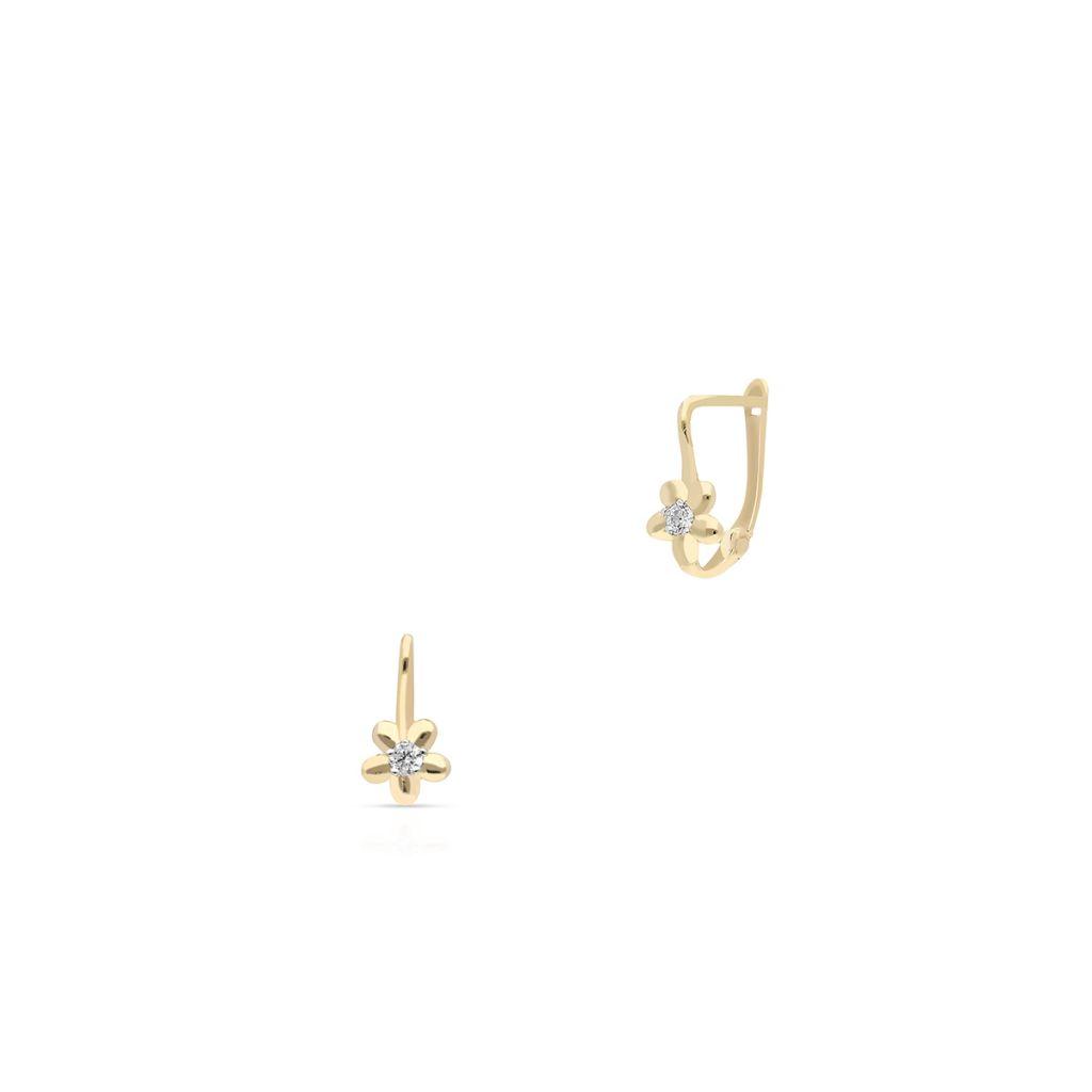 Kolczyki złote z cyrkonią