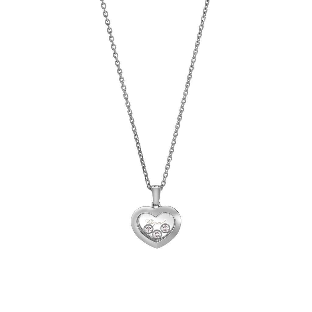 Naszyjnik białe złoto Happy Diamonds Chopard