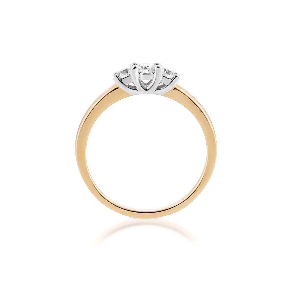 Pierścionki Pierścionek Zaręczynowy Złoty Wieczny Zcgpb579k