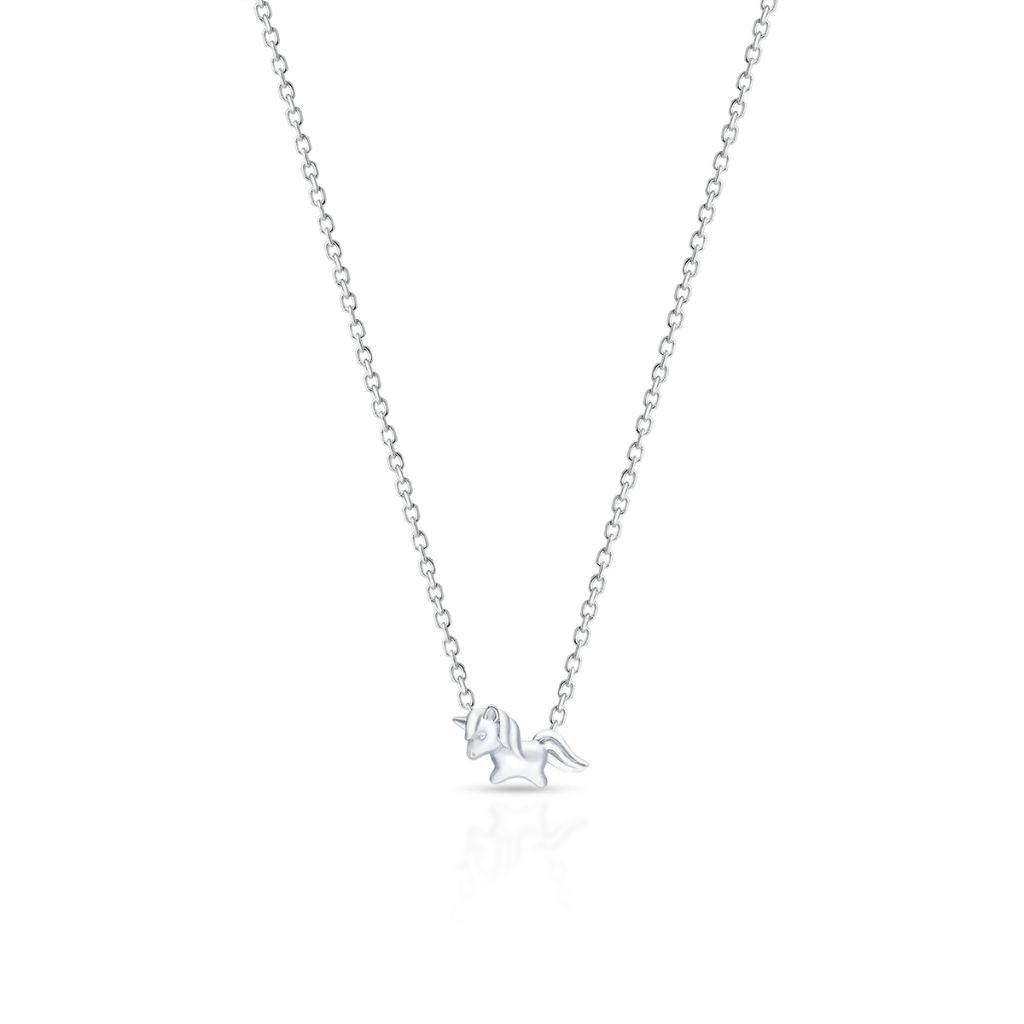 Naszyjnik srebrny jednorożec