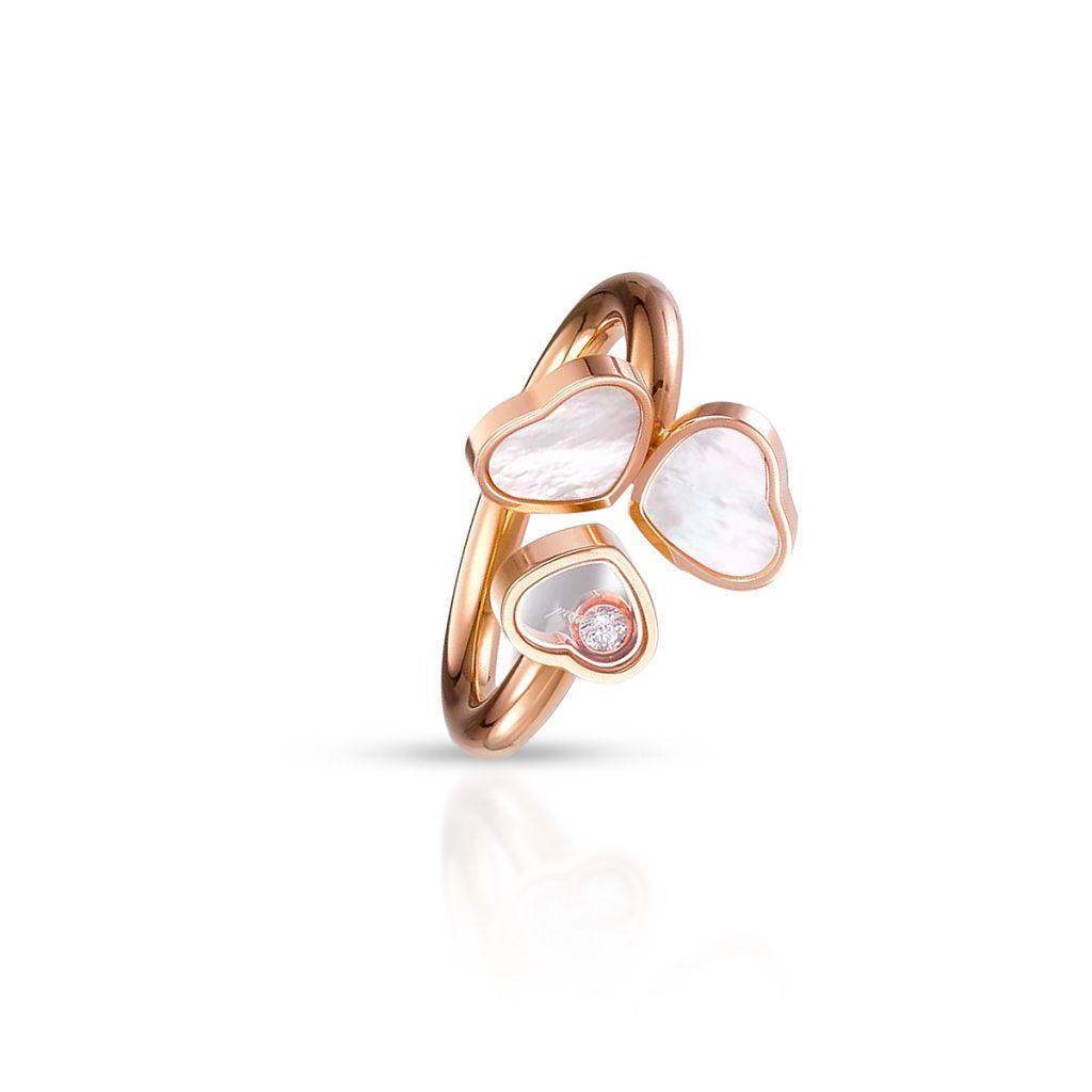 Pierścionek różowe złoto HAPPY HEARTS Chopard