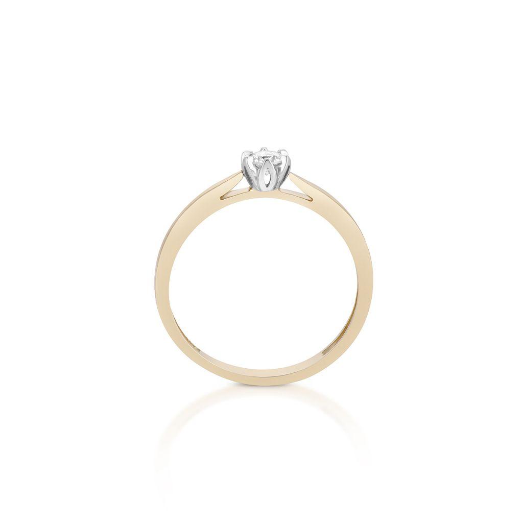 Pierścionki Pierścionek Zaręczynowy Złoty Romantyczny Znnpb05bk