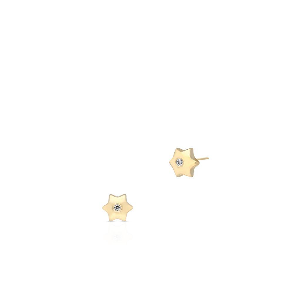 Kolczyki złote z cyrkoniami gwiazdki