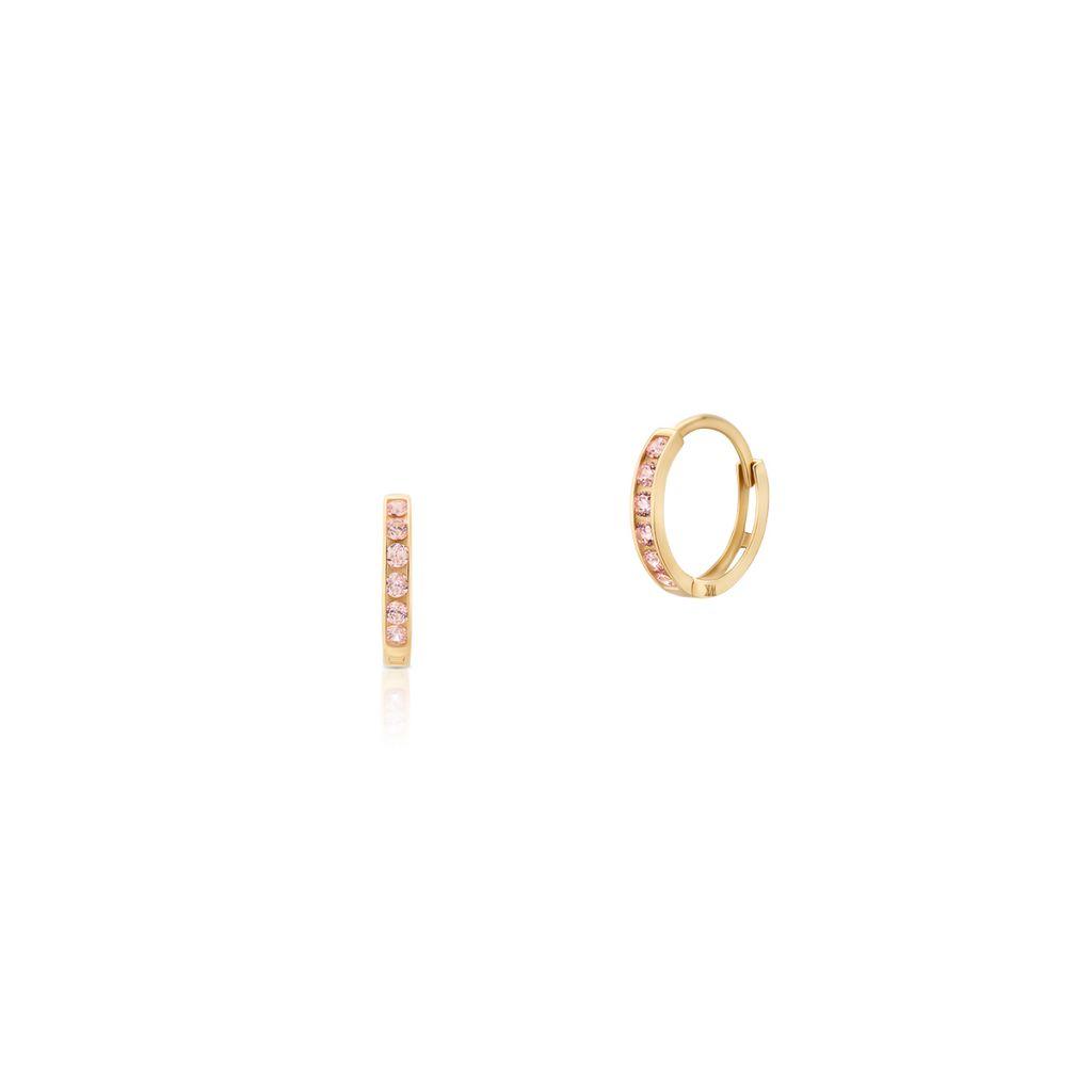 Kolczyki złote kółka z cyrkoniami