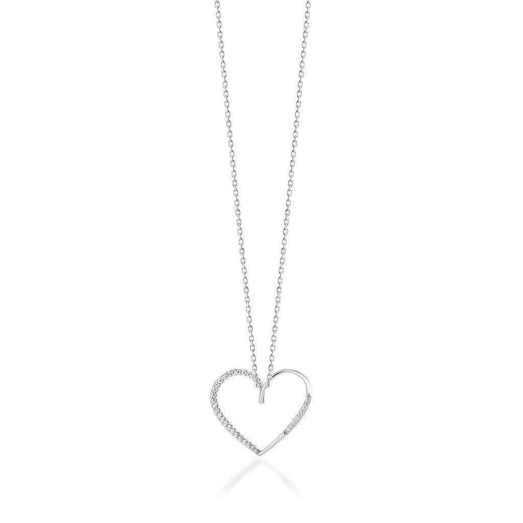 946940bbe6bc1c Wisiorki - Wisiorek srebrny serce - STD/WC166