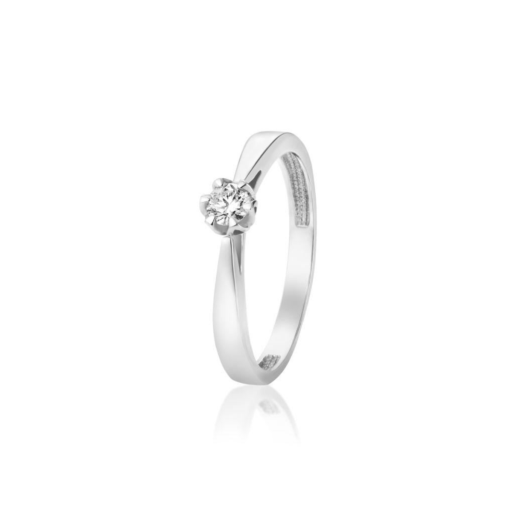 eb87605f546707 Pierścionki - Pierścionek zaręczynowy złoty Romantyczny - ZNN/PB+10B