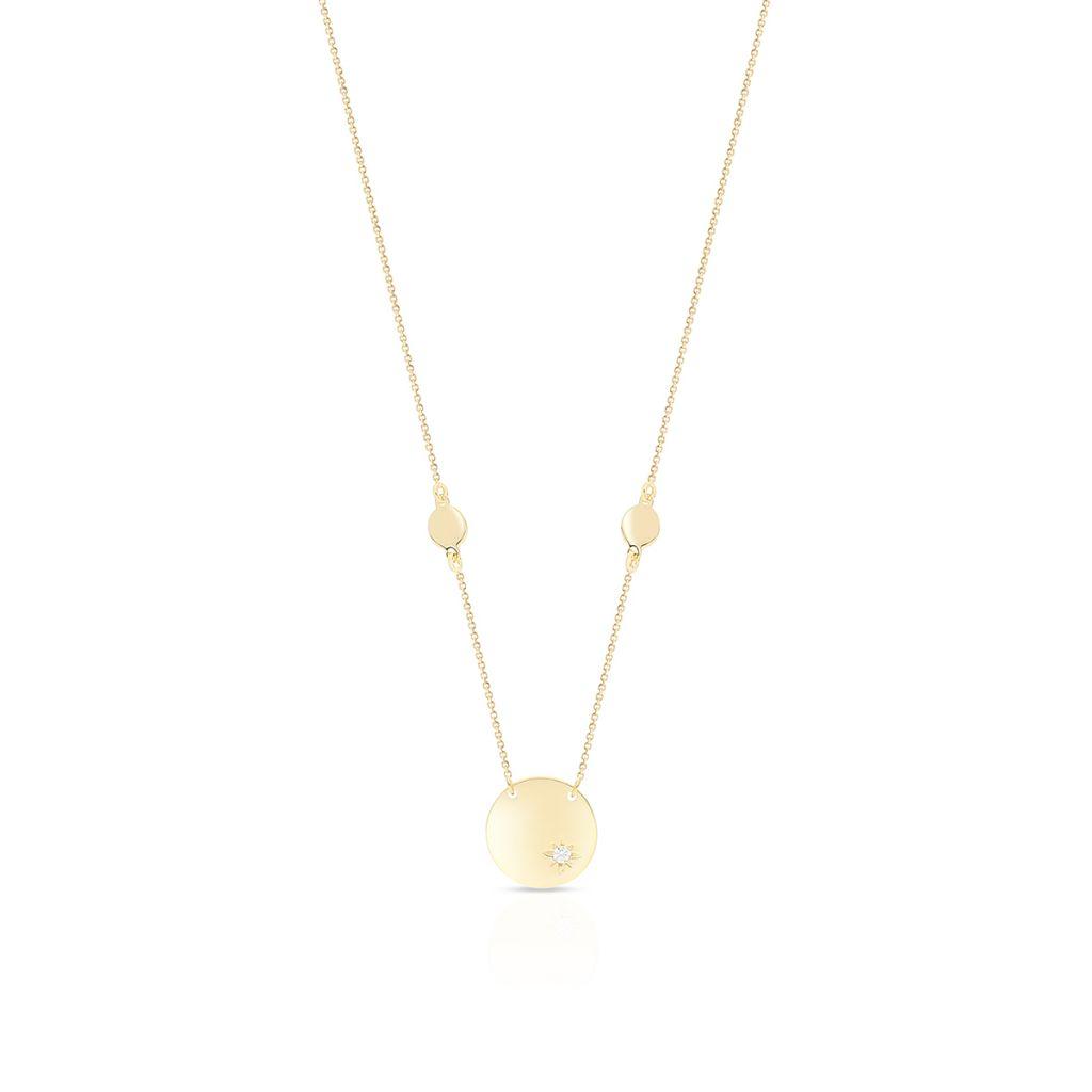 Naszyjnik złoty z cyrkonią