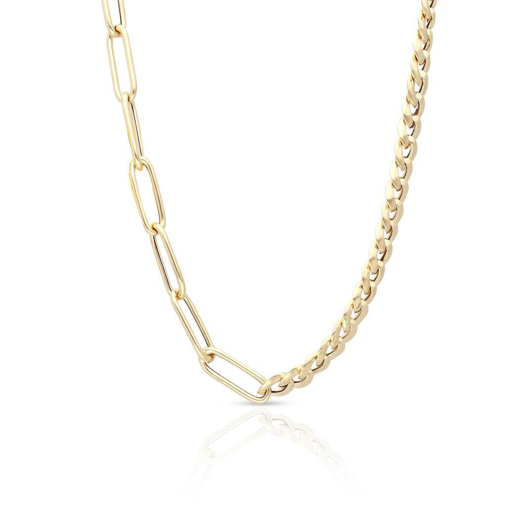 Naszyjnik złoty paper clip