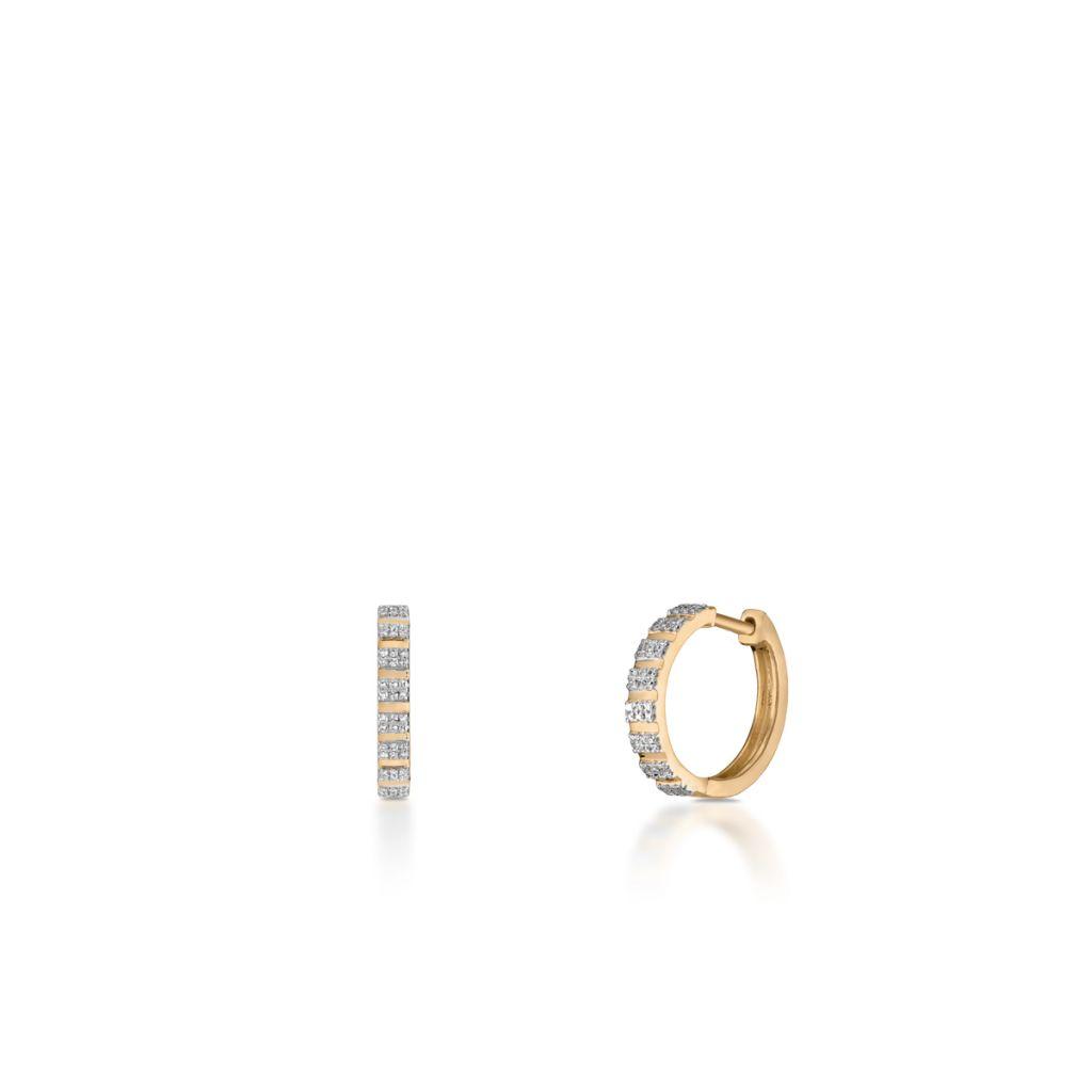 733eeff0dbc414 Kolczyki - Pierścionek z diamentami - ZPA/KB+353