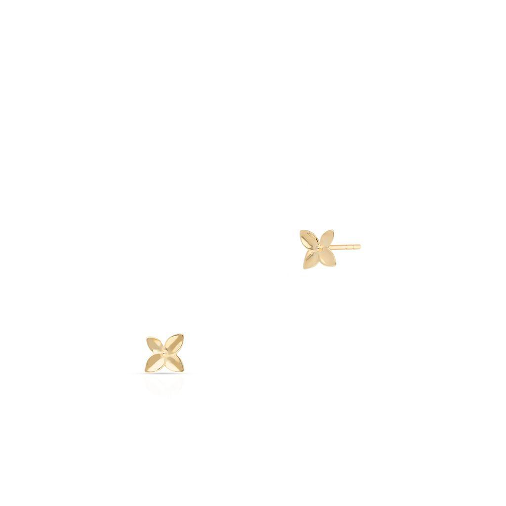 Kolczyki złote kwiaty