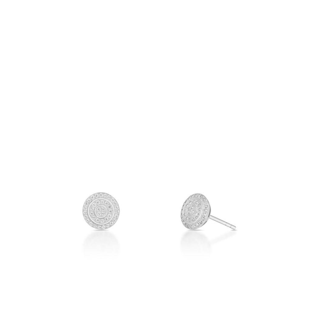 Kolczyki srebrne z cyrkoniami okrągłe