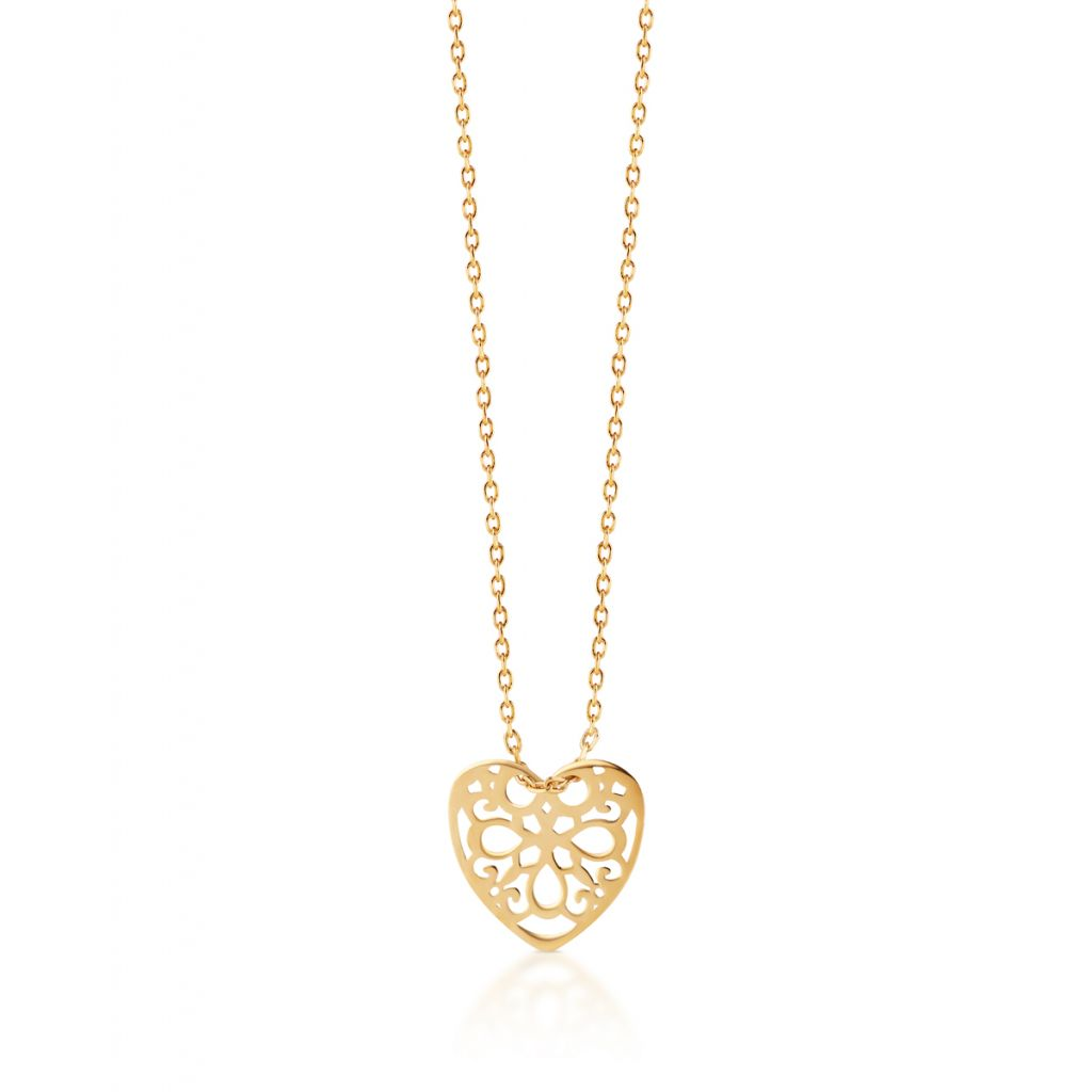 Naszyjnik złoty ażurowe serce