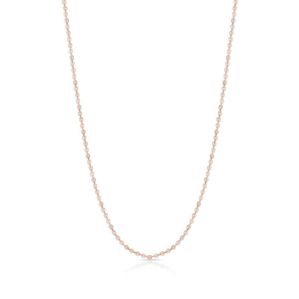 Łańcuszek srebrny pozłacany ankier