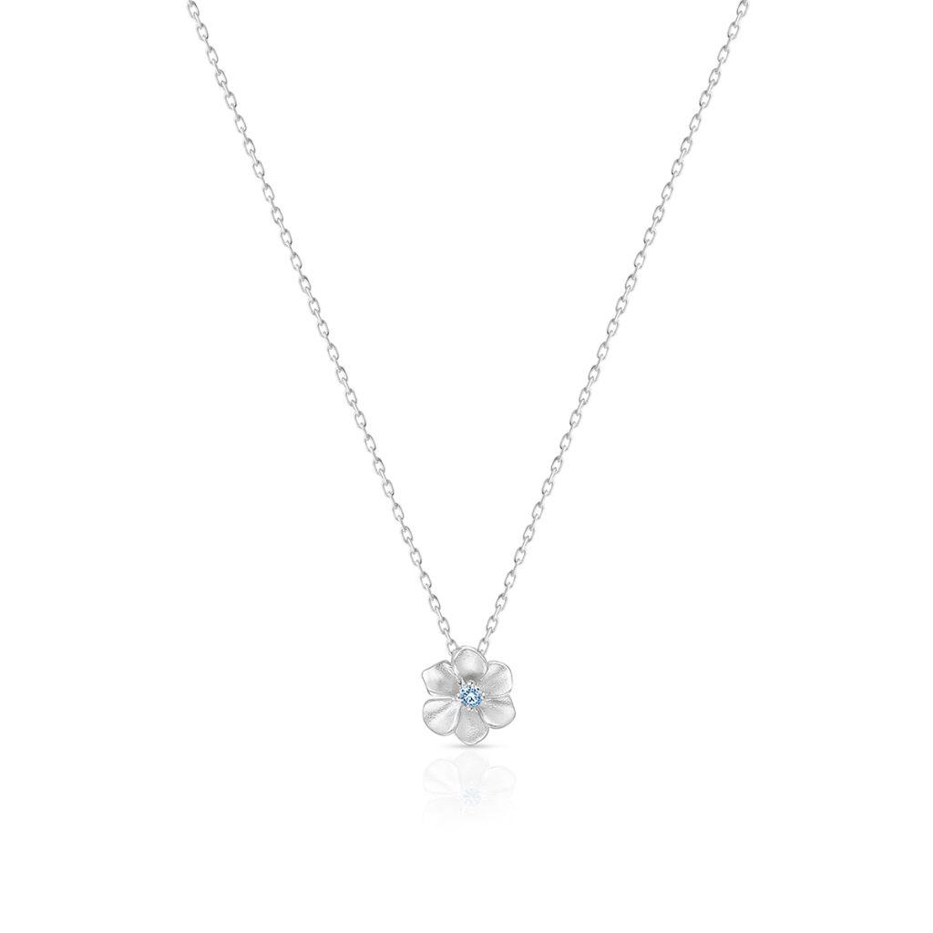 Naszyjnik srebrny Kwiaty Nocy