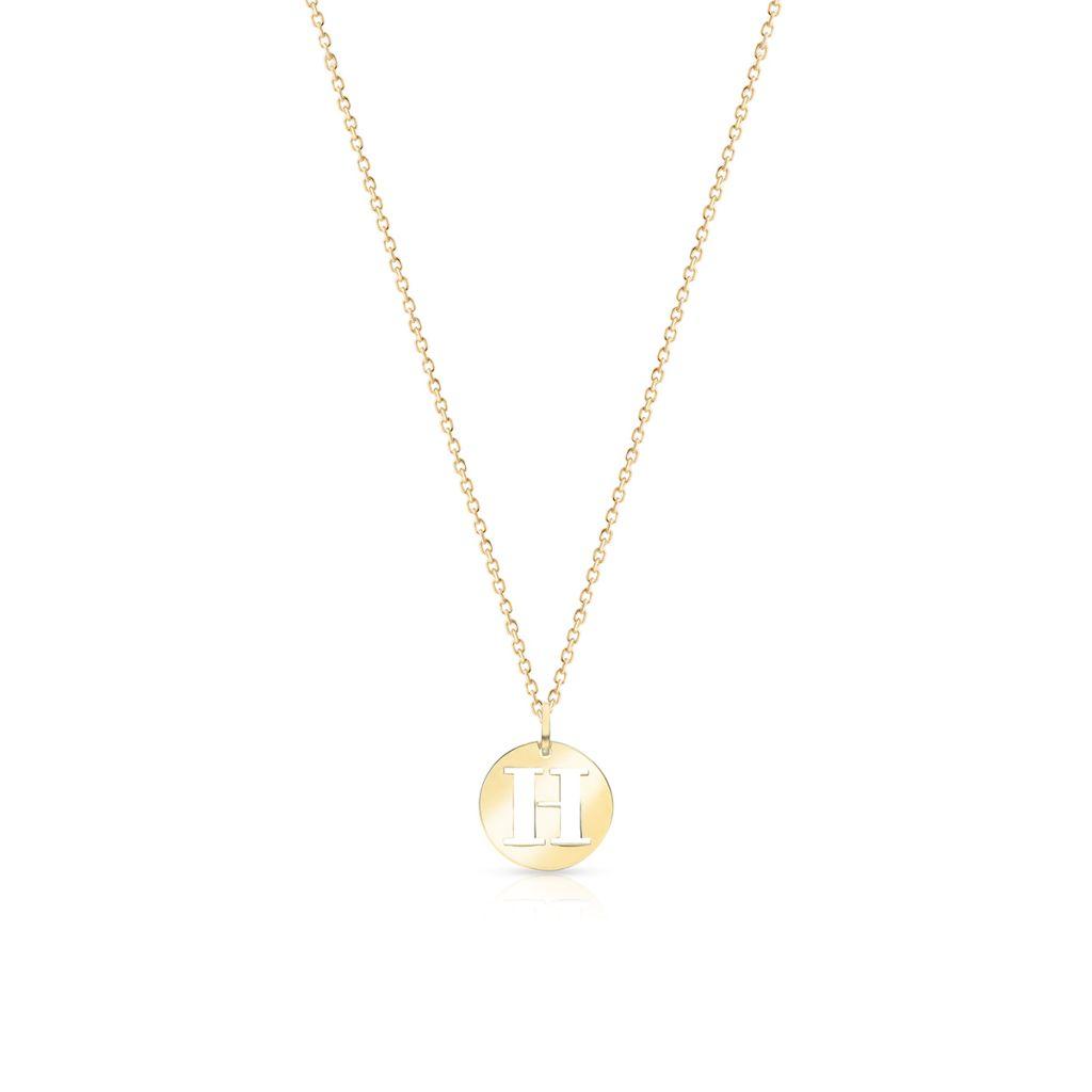 Wisiorek złoty literka H