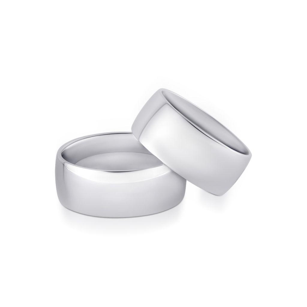 Komplet obrączek srebrnych Sabbia