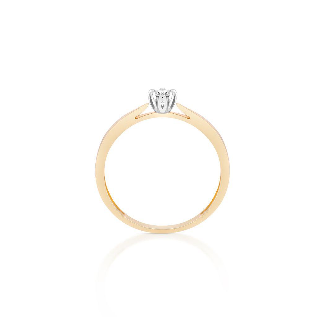 Pierścionki Pierścionek Zaręczynowy Złoty Romantyczny Znnpb06bk