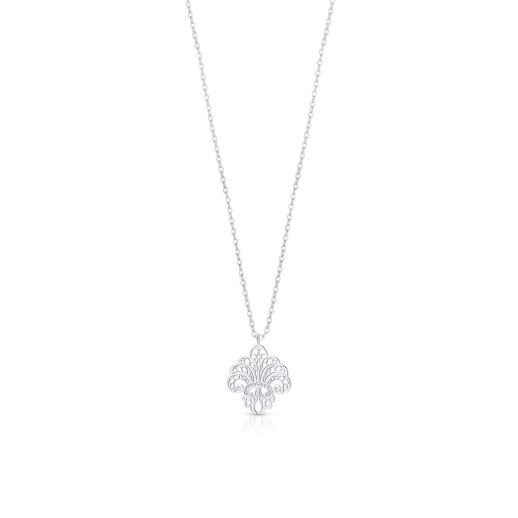 Wisiorek srebrny ażurowa lilijka