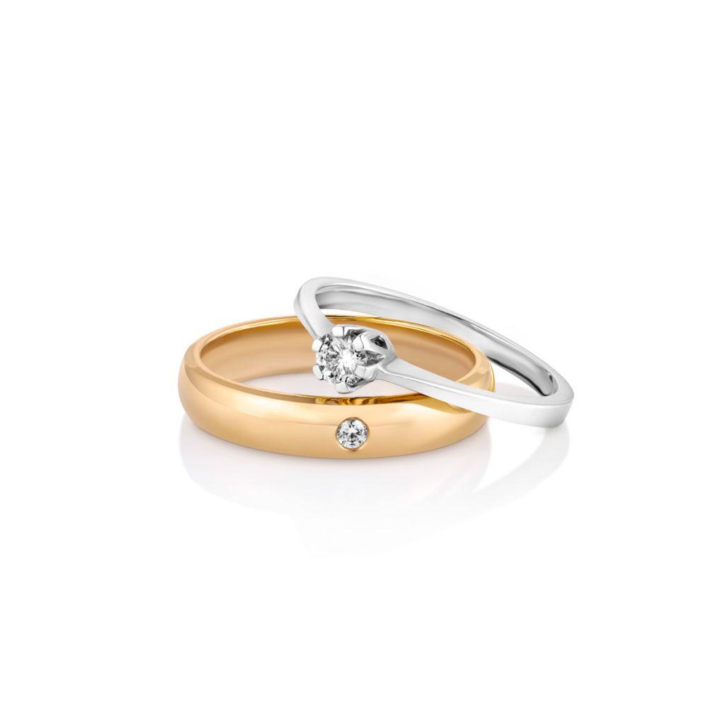 Pierścionki Pierścionek Zaręczynowy Złoty Jedyny Xwrpb37b