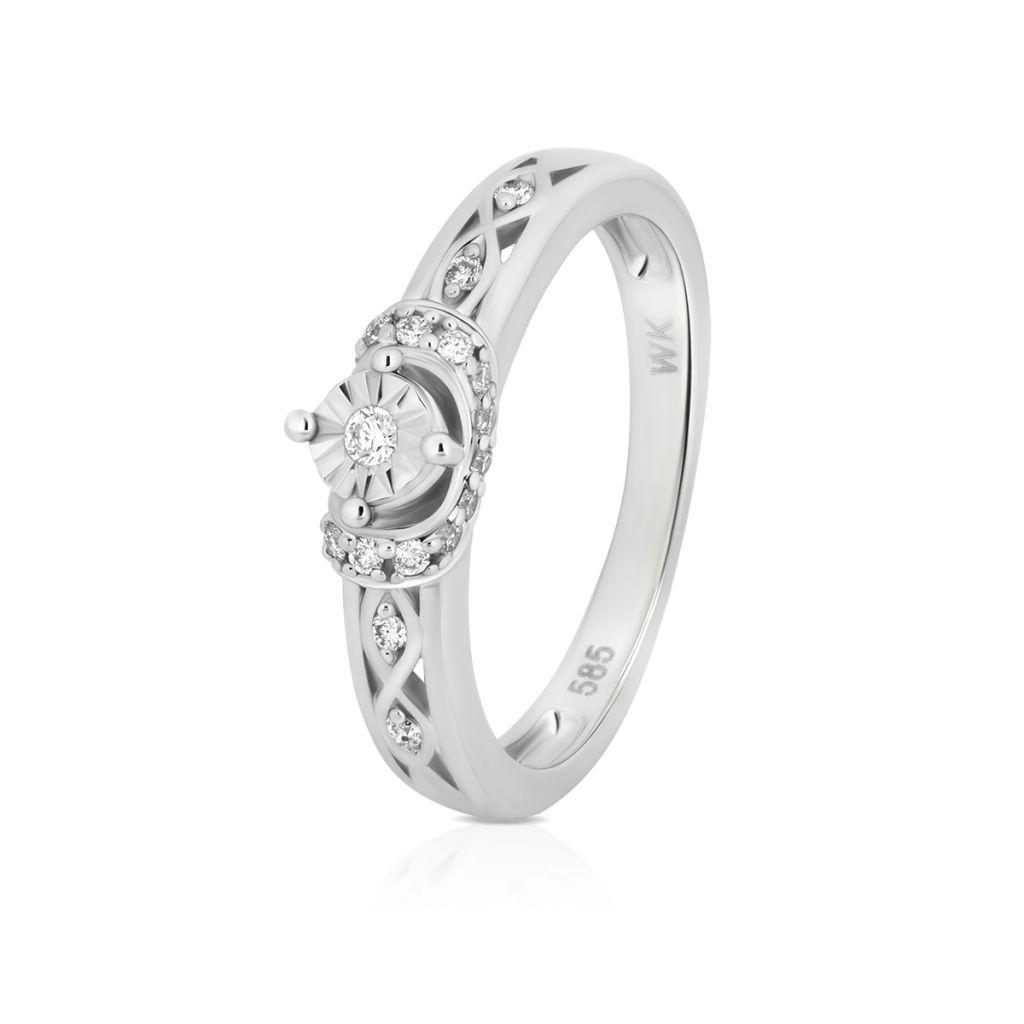 Pierścionki Pierścionek Zaręczynowy Z Diamentem Zpapb367b