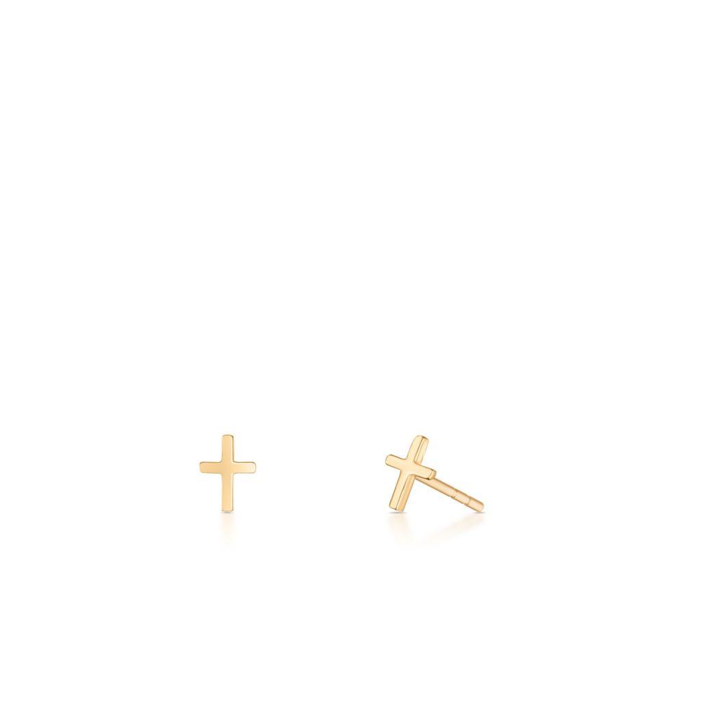 Kolczyki złote krzyżyki