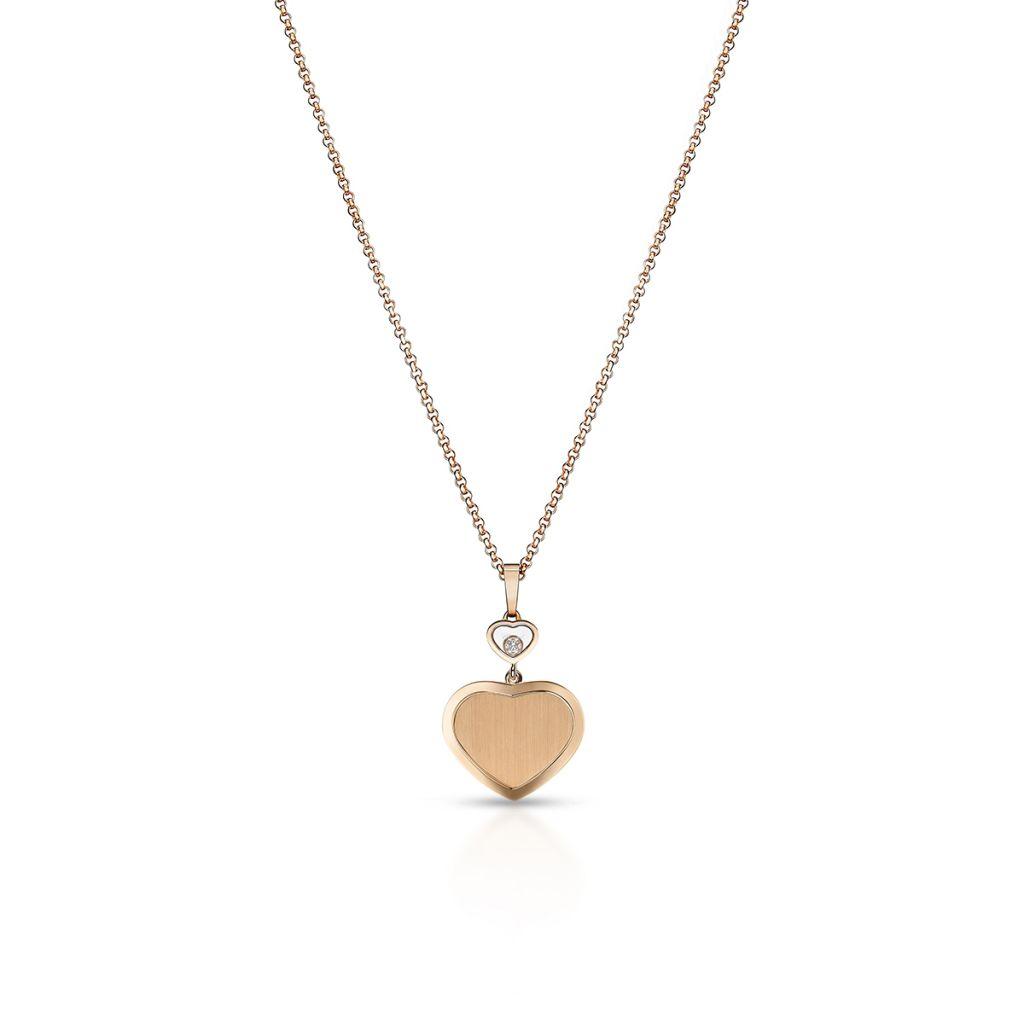 Naszyjnik różowe złoto HAPPY DIAMONDS HEART Chopard