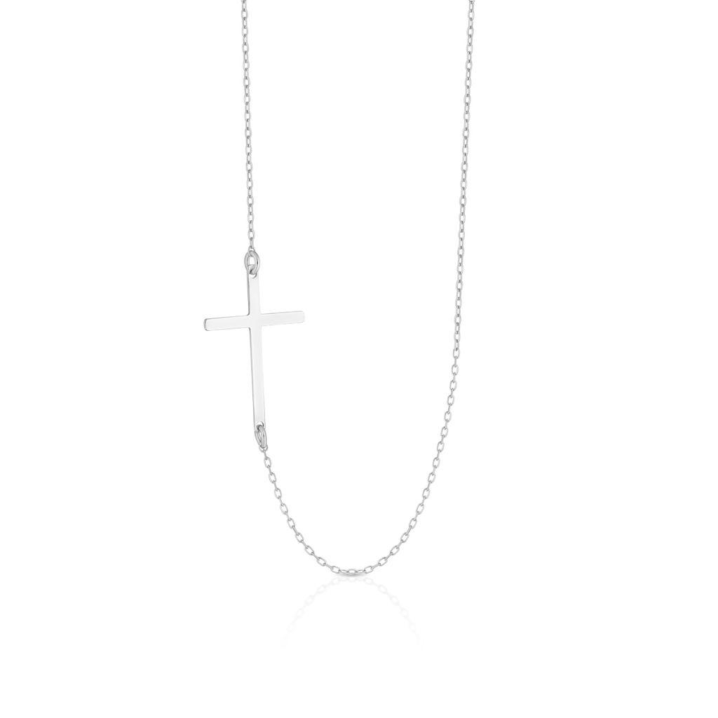 Naszyjnik srebrny z symbolem sakralnym