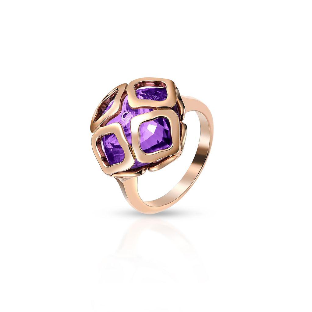 Pierścionek różowe złoto IMPERIALE COCKTAIL CHOPARD