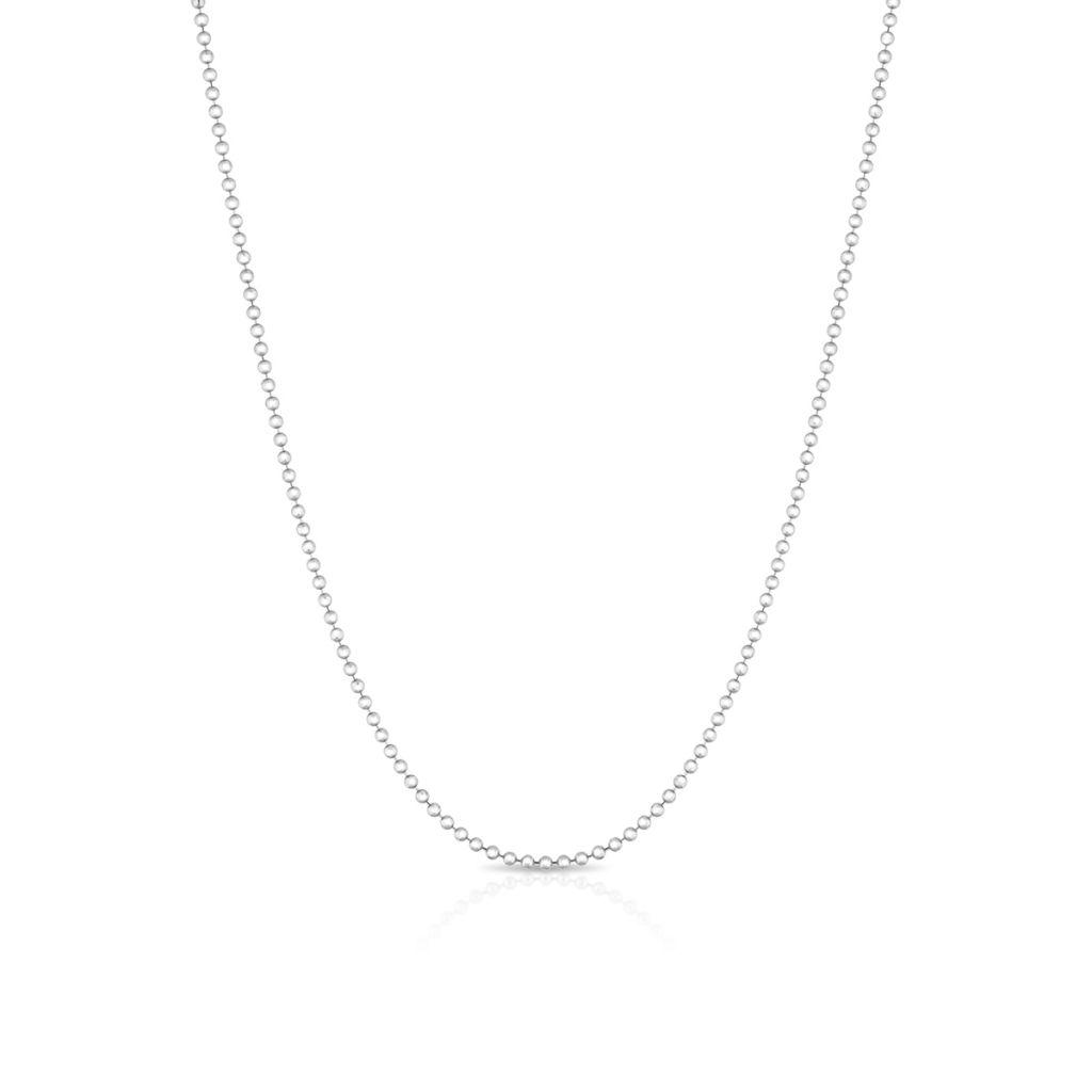 Łańcuszek srebrny kulkowy