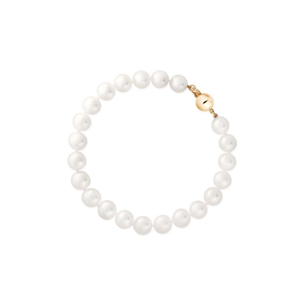Bransoleta złota z perłami